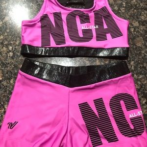 NCA cheer workout outfit